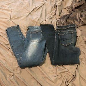 American Eagle And dollhouse Jeans